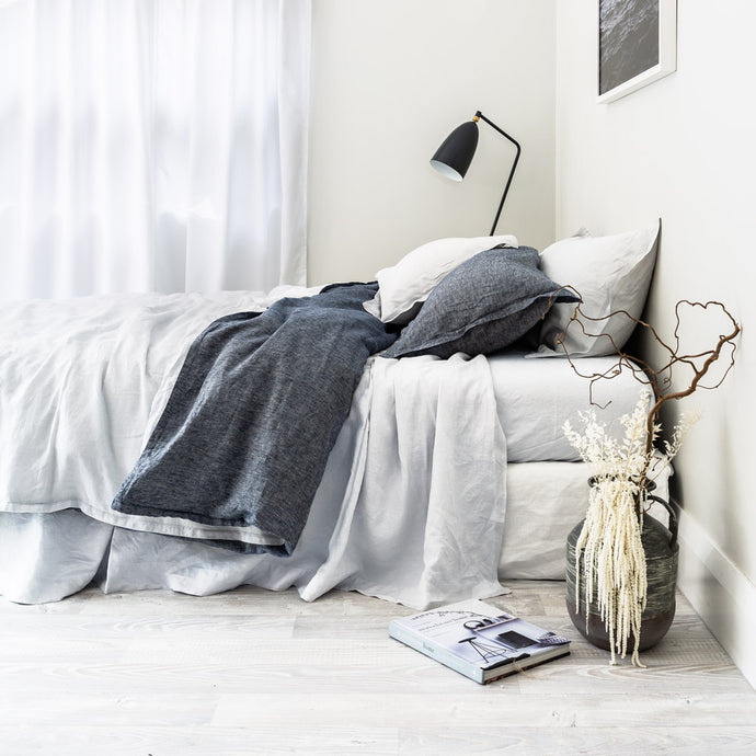 Everything Bed Linen Set - Denim + Ice