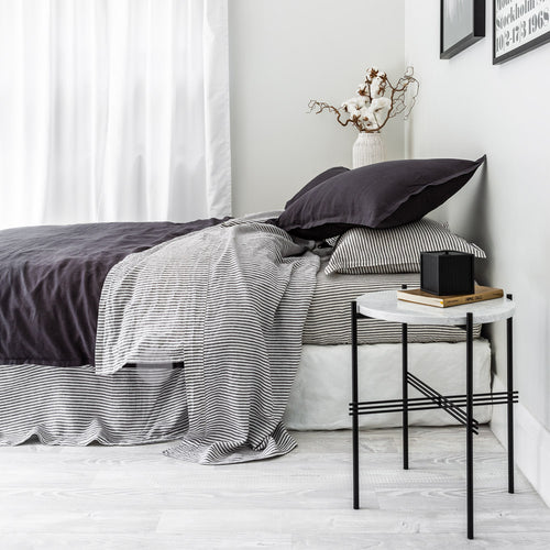 Everything Bed Linen Set - Ink + Shadow Stripe