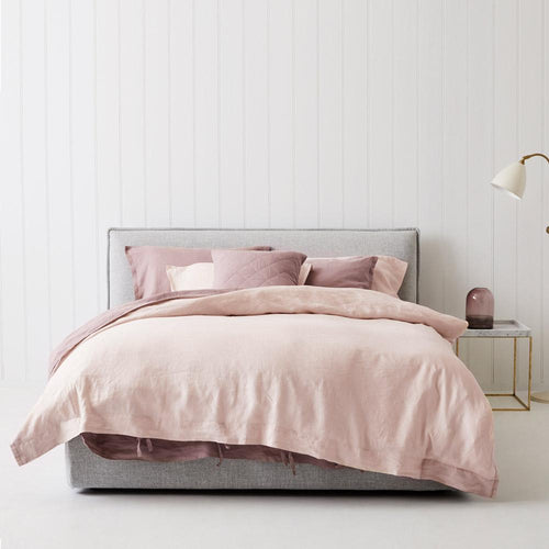 Everything Bed Linen Set - Rosé + Blush