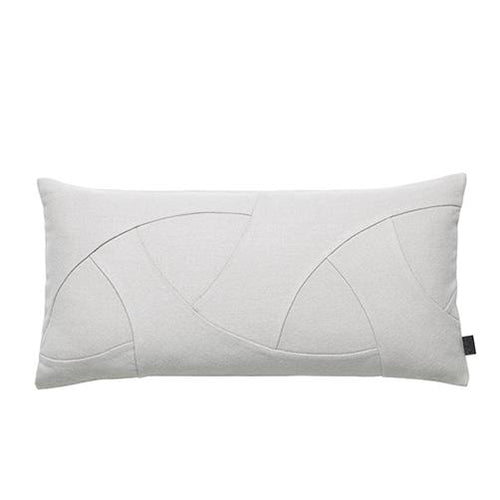 By Lassen Flow Cushion in Grey - Rectangular
