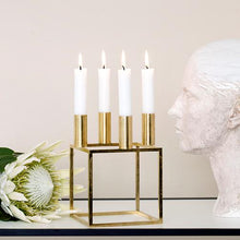 Load image into Gallery viewer, Kubus 4 Candleholder - Brass