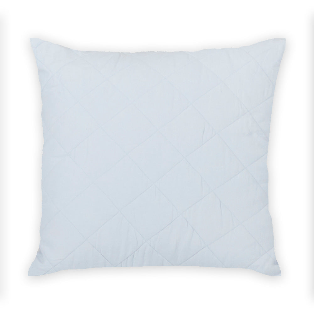 Diamond Quilted Pillow in Sky