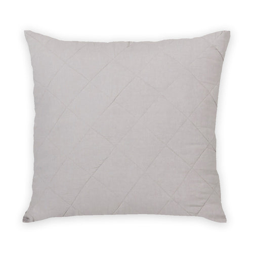Diamond Quilted Pillow in Stone