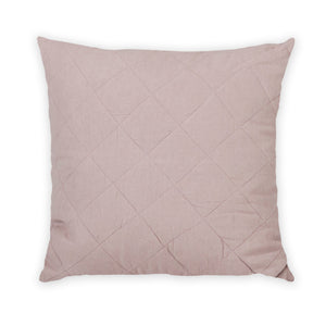 Diamond Quilted Pillow in Rosé