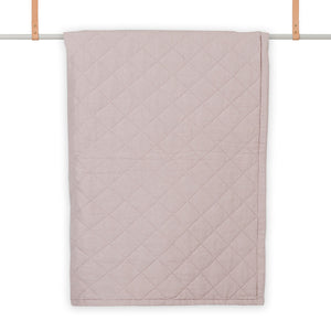Diamond Quilted Throw in Rosé