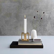 Load image into Gallery viewer, Kubus 1 Candleholder - Brass