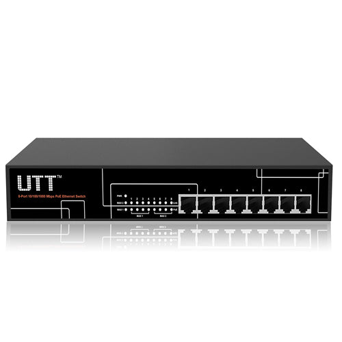UTT S1080GP 8-port internet Unmanaged Gigabit PoE Switch