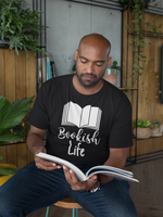 Bookish Life - Short-Sleeve Men's T-Shirt - Bookish Merchandise - Gift for Booklovers - Book Merch - Reading Accessories - Bookacy - Books and More