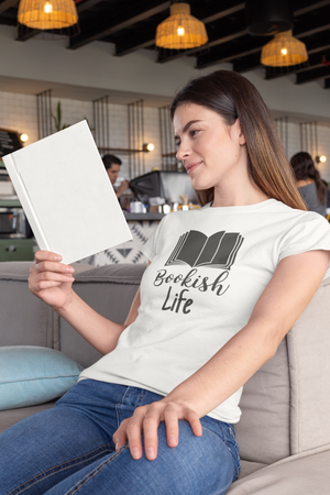 Bookish Life - Women's short sleeve t-shirt - Bookish Merchandise - Gift for Booklovers - Book Merch - Reading Accessories - Bookacy - Books and More