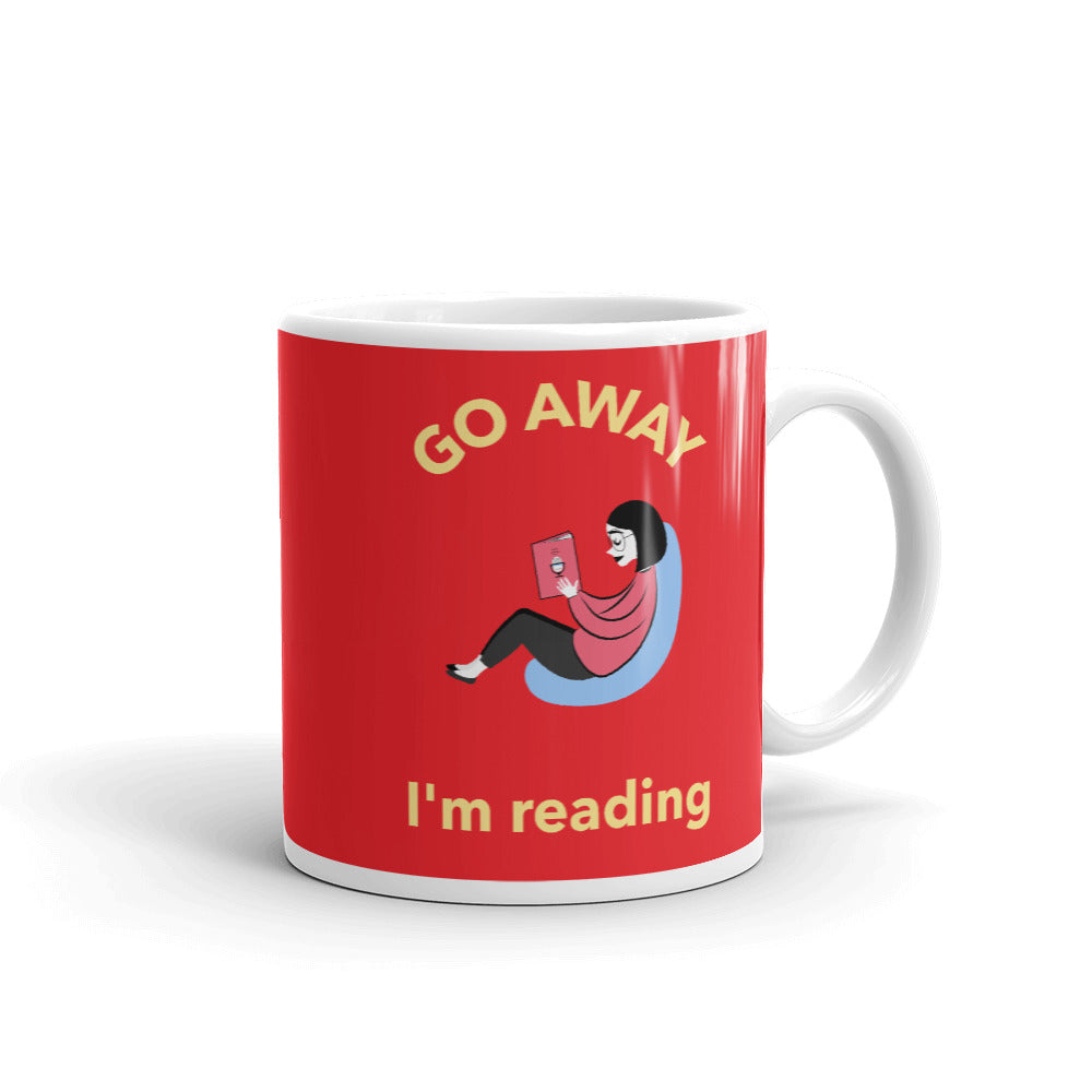 Go away I'm reading - Mug - Bookish Merchandise - Gift for Booklovers - Book Merch - Reading Accessories - Bookacy - Books and More
