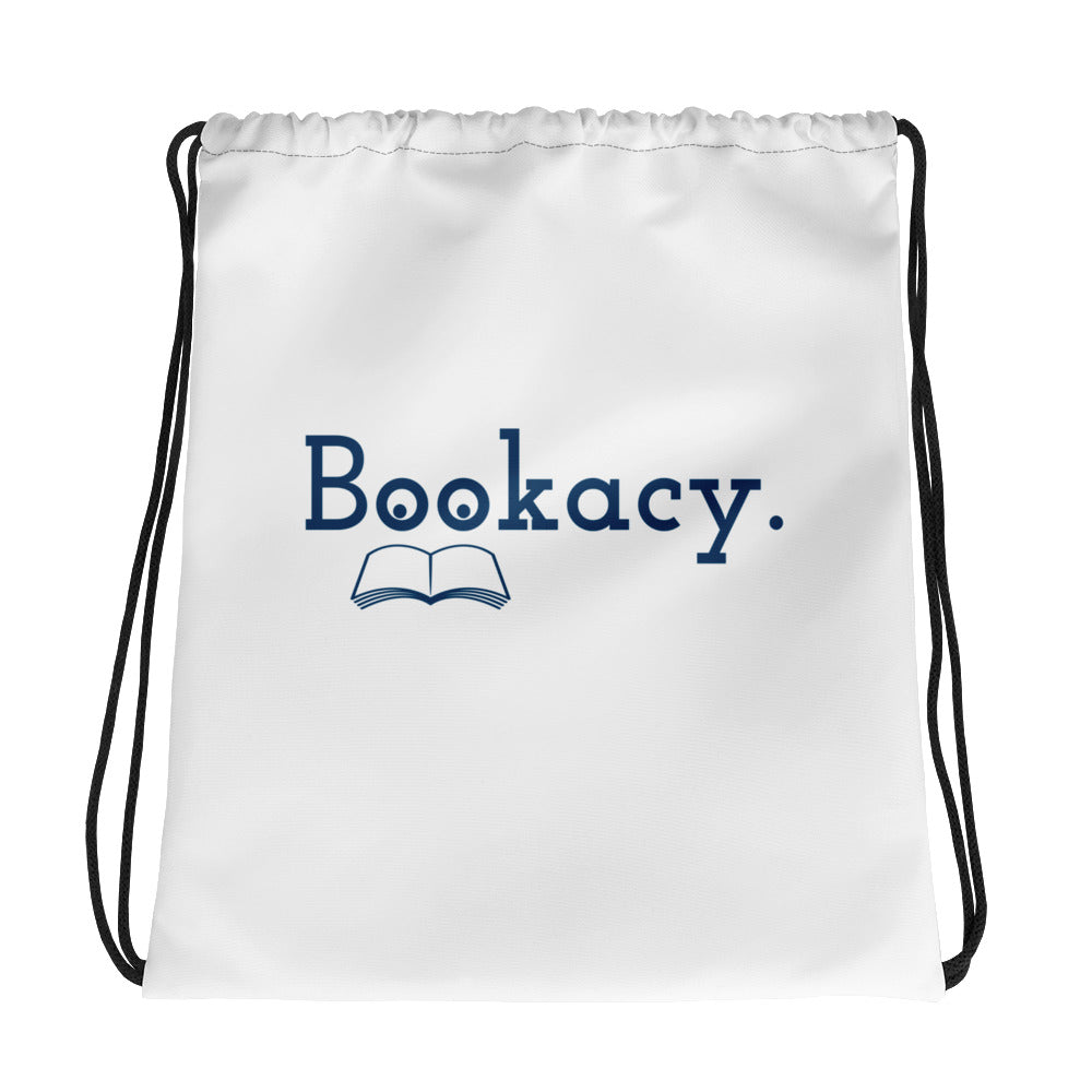 Drawstring bag - Bookish Merchandise - Gift for Booklovers - Book Merch - Reading Accessories - Bookacy - Books and More