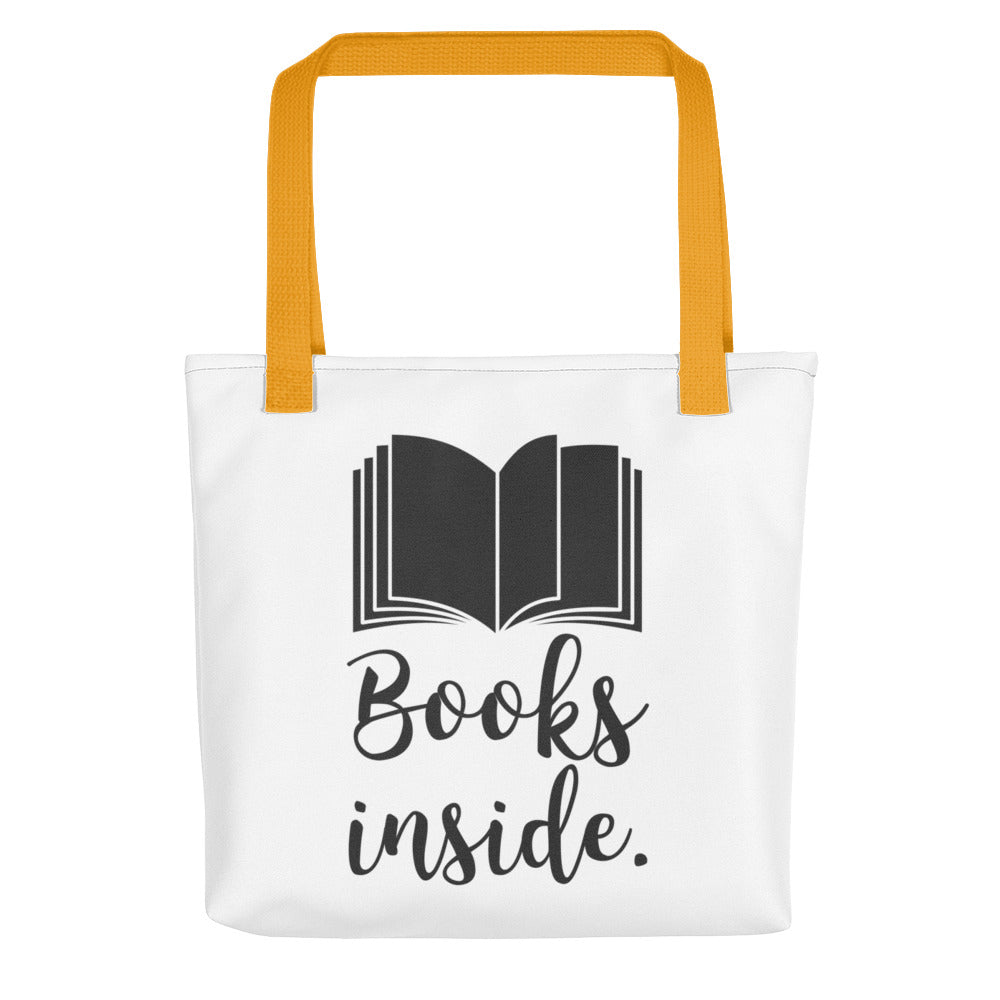 Books Inside - Tote bag - Bookish Merchandise - Gift for Booklovers - Book Merch - Reading Accessories - Bookacy - Books and More