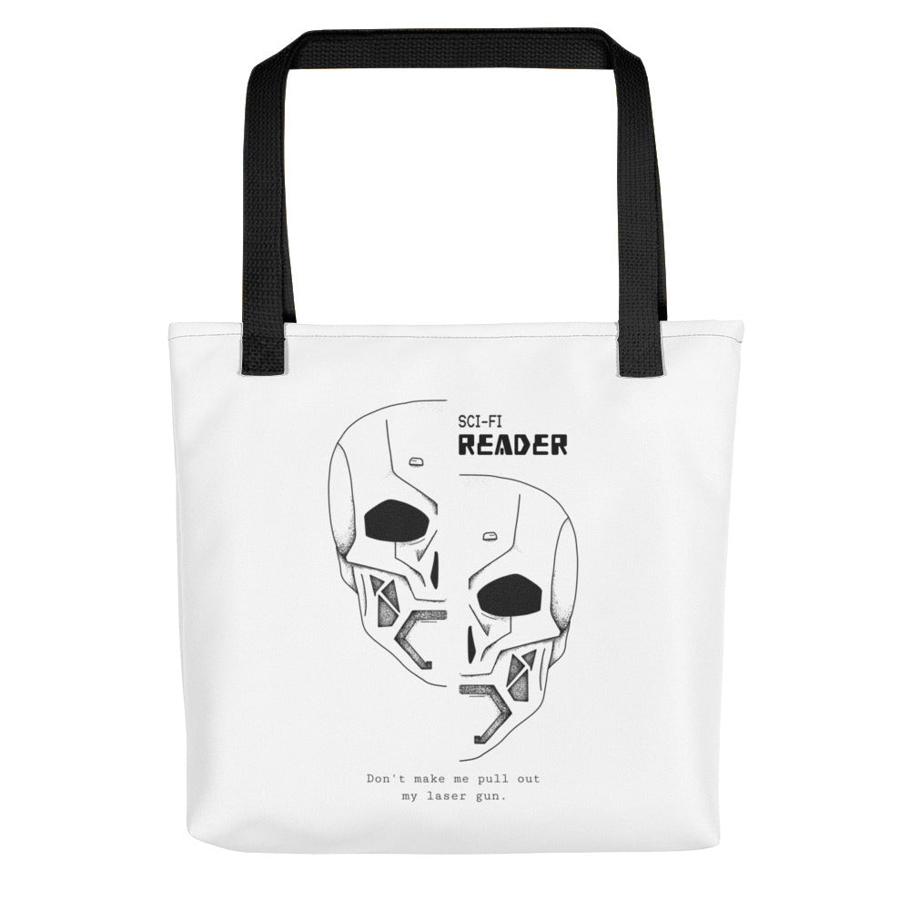 Sci-Fi Reader - Tote bag - Bookish Merchandise - Gift for Booklovers - Book Merch - Reading Accessories - Bookacy - Books and More