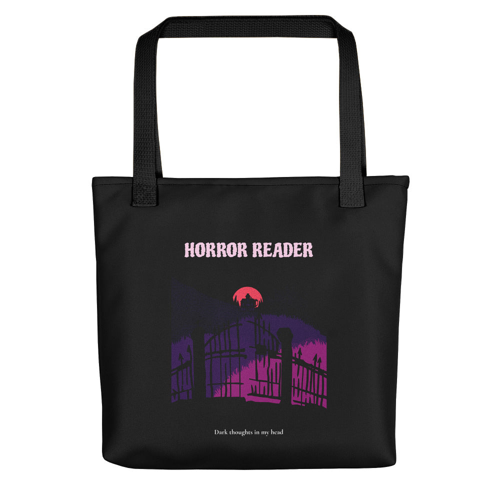 Horror Reader - Tote bag - Bookish Merchandise - Gift for Booklovers - Book Merch - Reading Accessories - Bookacy - Books and More