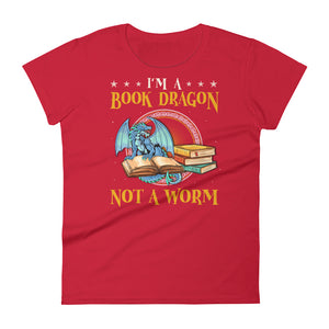 Book Dragon - Women's short sleeve t-shirt - Bookish Merchandise - Gift for Booklovers - Book Merch - Reading Accessories - Bookacy - Books and More