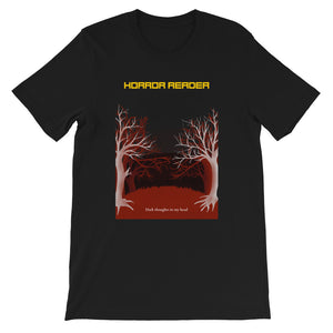 Horror Reader - Short-Sleeve Men's T-Shirt - Bookish Merchandise - Gift for Booklovers - Book Merch - Reading Accessories - Bookacy - Books and More