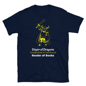 Slayer of Dragons - Short-Sleeve Unisex T-Shirt - Bookacy - Books and More