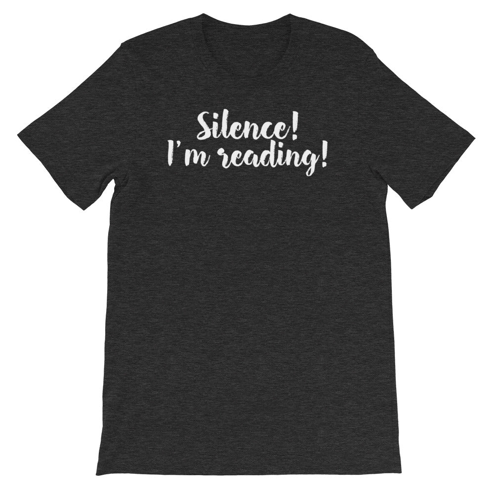 Silence - Short-Sleeve Men's T-Shirt - Bookish Merchandise - Gift for Booklovers - Book Merch - Reading Accessories - Bookacy - Books and More