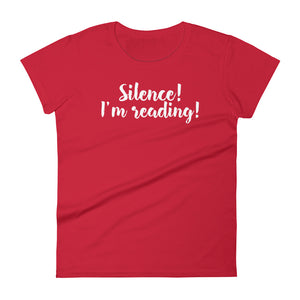 Silence - Women's short sleeve t-shirt - Bookish Merchandise - Gift for Booklovers - Book Merch - Reading Accessories - Bookacy - Books and More
