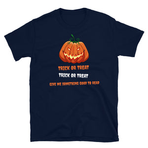 Trick or treat - Short-Sleeve Unisex T-Shirt - Bookacy - Books and More