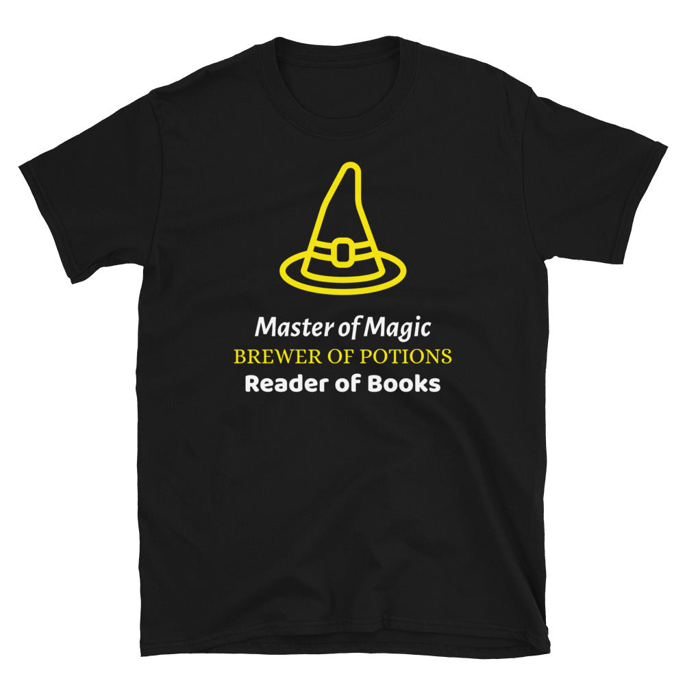 Master of Magic - Short-Sleeve Unisex T-Shirt - Bookish Merchandise - Gift for Booklovers - Book Merch - Reading Accessories - Bookacy - Books and More