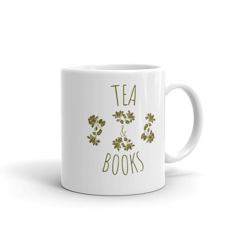 Tea & Books Mug - Bookish Merchandise - Gift for Booklovers - Book Merch - Reading Accessories - Bookacy - Books and More