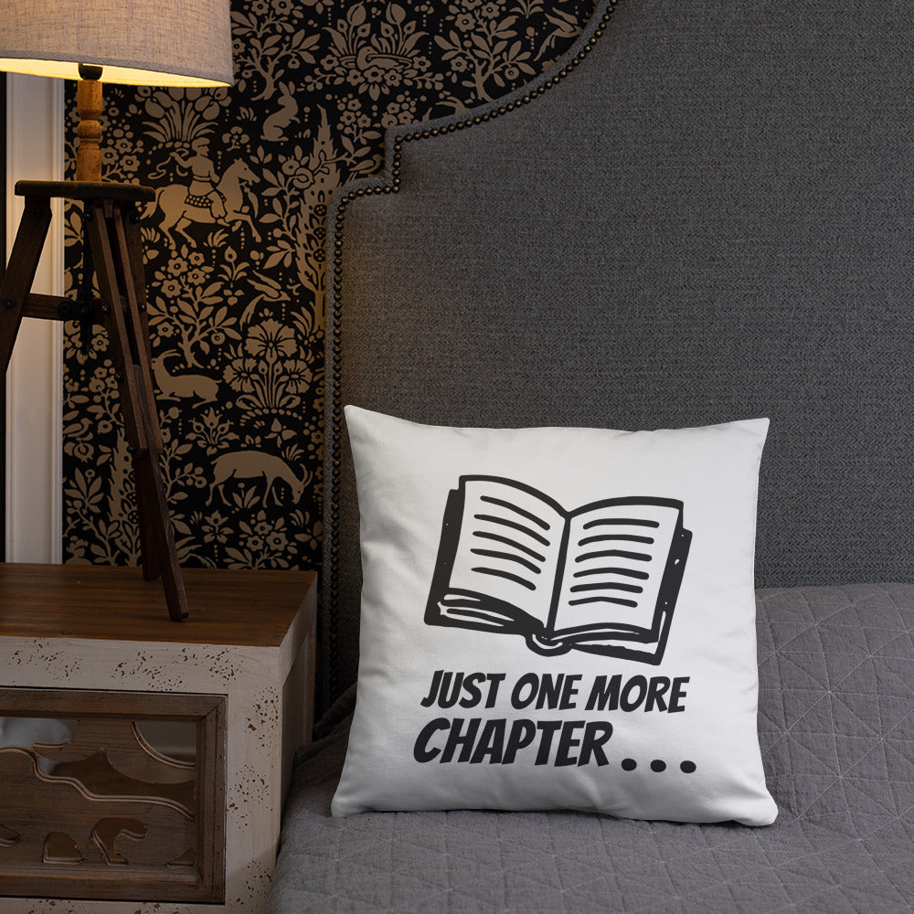 One more chapter - Pillow - Bookish Merchandise - Gift for Booklovers - Book Merch - Reading Accessories - Bookacy - Books and More