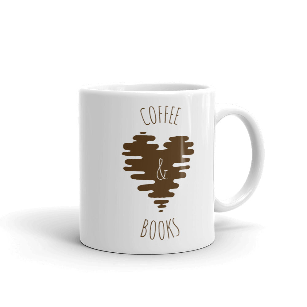 Coffee & Books Mug - Bookish Merchandise - Gift for Booklovers - Book Merch - Reading Accessories - Bookacy - Books and More