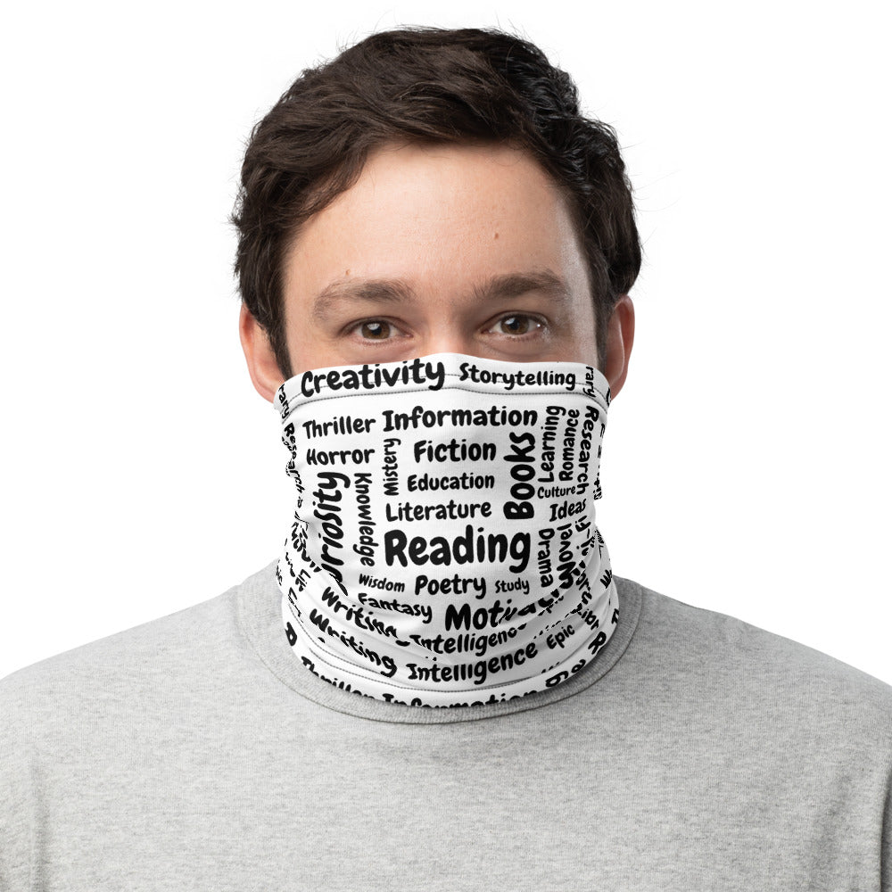 """It's all about reading"" Unisex Neck Gaiter - Bookacy - Books and More"
