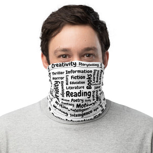 """It's all about reading"" Unisex Neck Gaiter - Bookish Merchandise - Gift for Booklovers - Book Merch - Reading Accessories - Bookacy - Books and More"