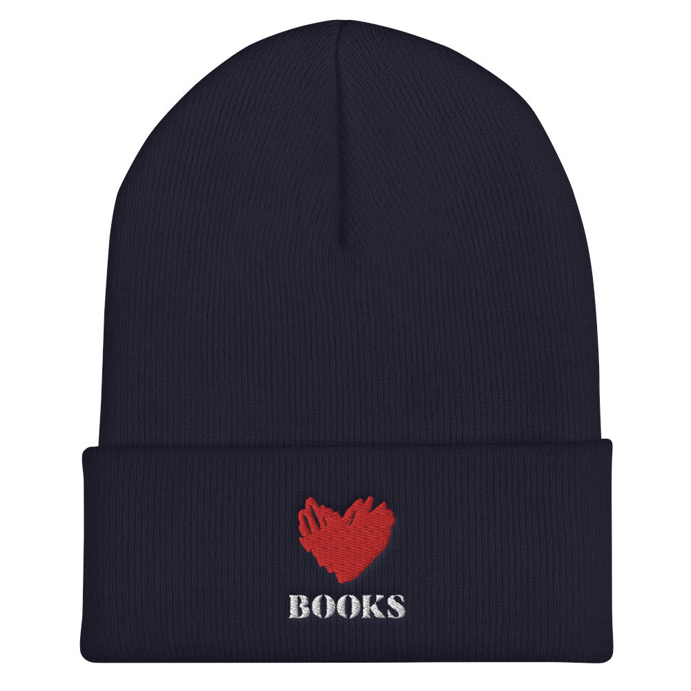 Love Books 2 - Beanie - Bookish Merchandise - Gift for Booklovers - Book Merch - Reading Accessories - Bookacy - Books and More