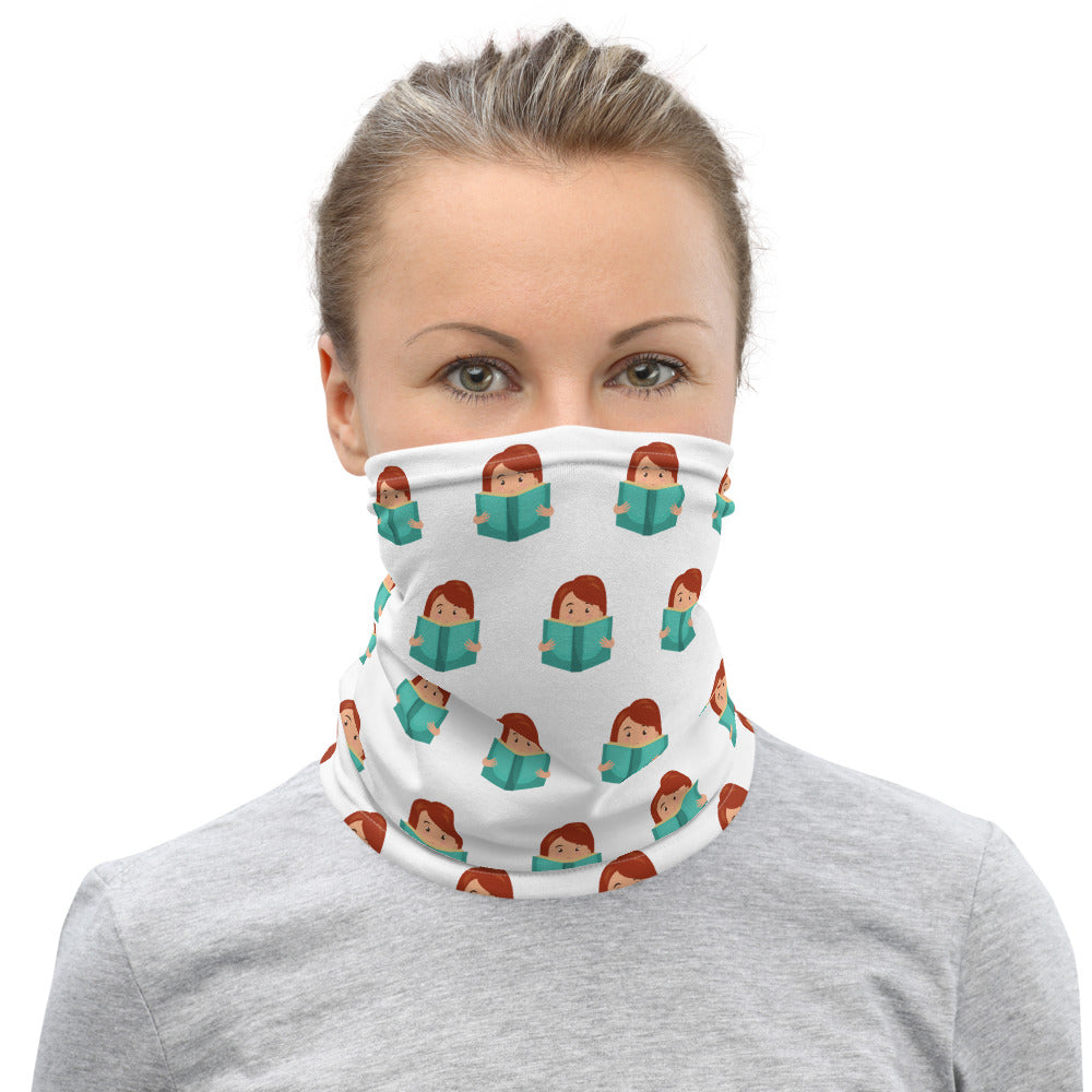 """Just one more chapter"" Unisex Neck Gaiter - Bookacy - Books and More"