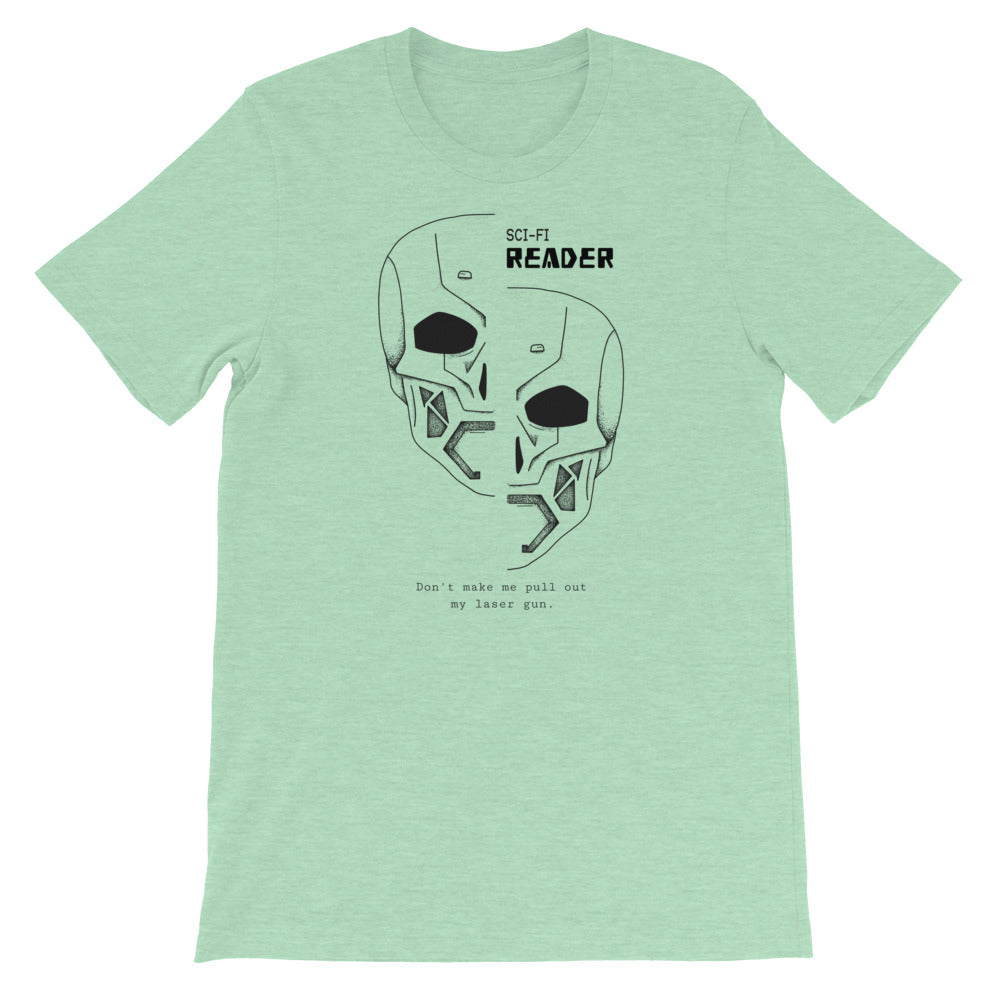 Sci-Fi Reader - Short-Sleeve Men's T-Shirt - Bookish Merchandise - Gift for Booklovers - Book Merch - Reading Accessories - Bookacy - Books and More