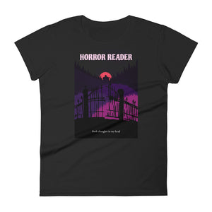 Horror Reader - Women's short sleeve t-shirt - Bookish Merchandise - Gift for Booklovers - Book Merch - Reading Accessories - Bookacy - Books and More