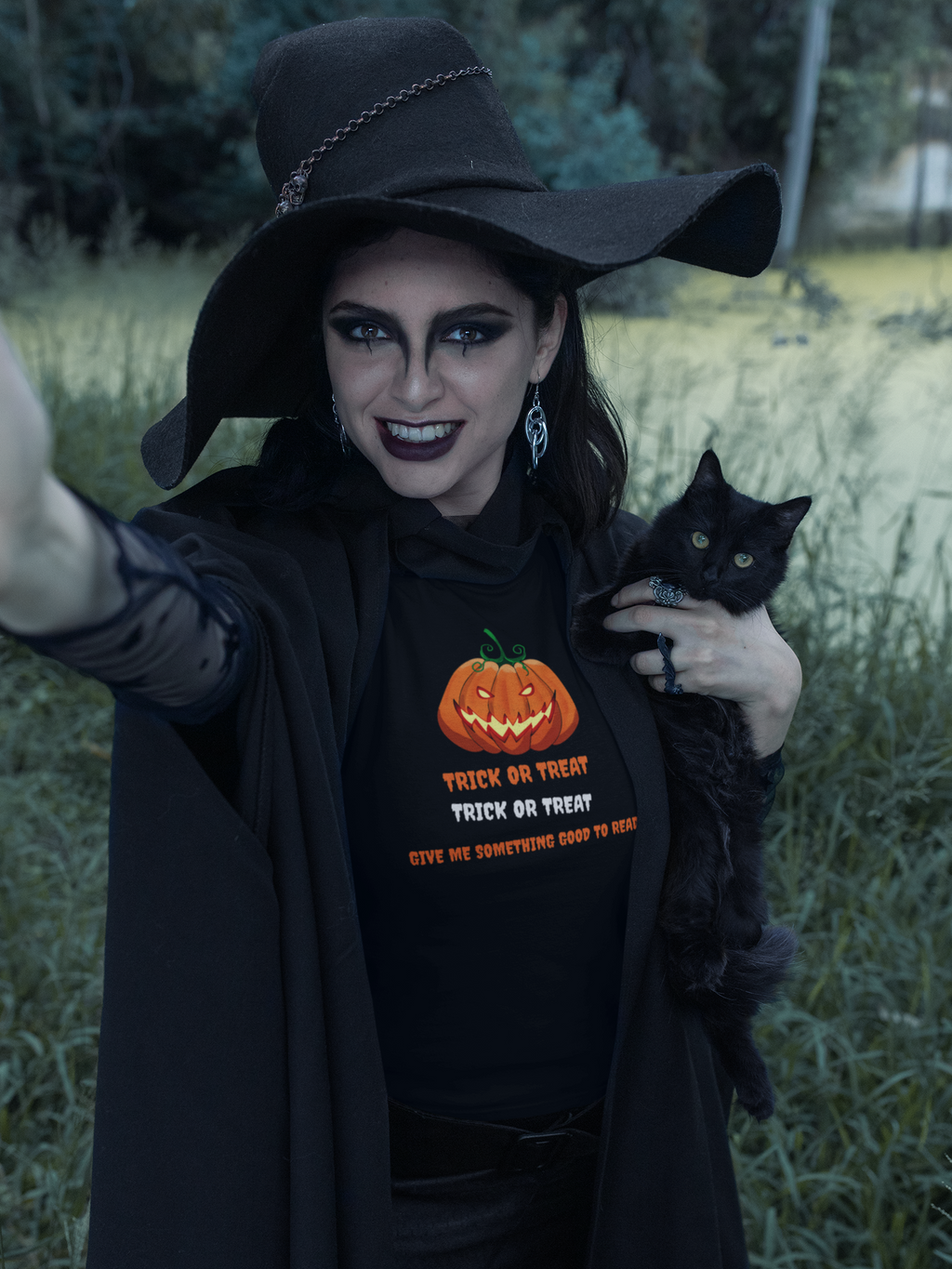 Trick or Treat - Women's short sleeve t-shirt - Bookish Merchandise - Gift for Booklovers - Book Merch - Reading Accessories - Bookacy - Books and More