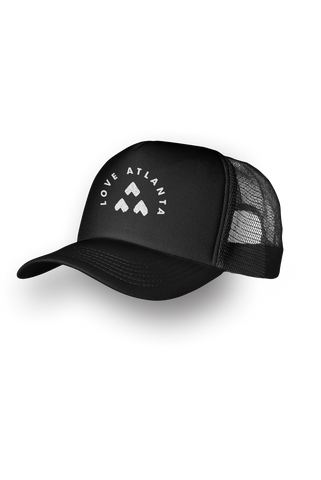 LOVE ATLANTA Round Logo Trucker Hat
