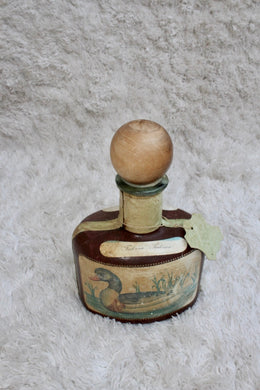 Decanter, Vintage Leather Mallard Torna Duck