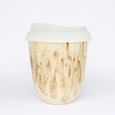 pottery keep cup - tall