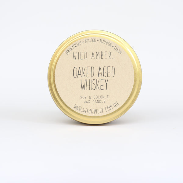 travel candle - oaked aged whiskey