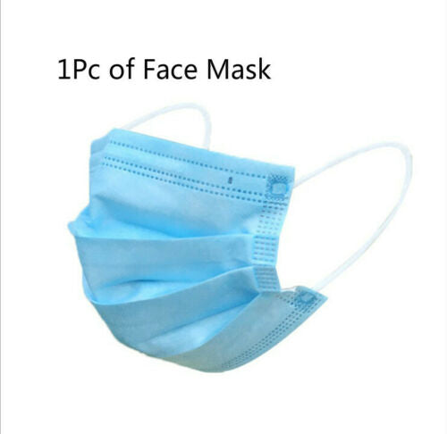 3 Ply Disposable Face Mask Comfortable Earloop 50PCS