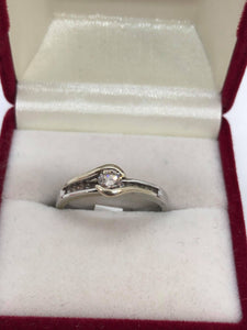 Ladies 18ct White Gold Diamond Ring