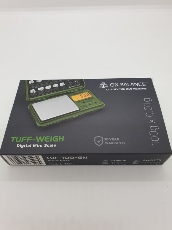Digital Scales Tuff Weigh On Balance 100g x  0.01g