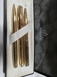 Parker Sonnet 3 Piece Set - 18ct Gold Plated