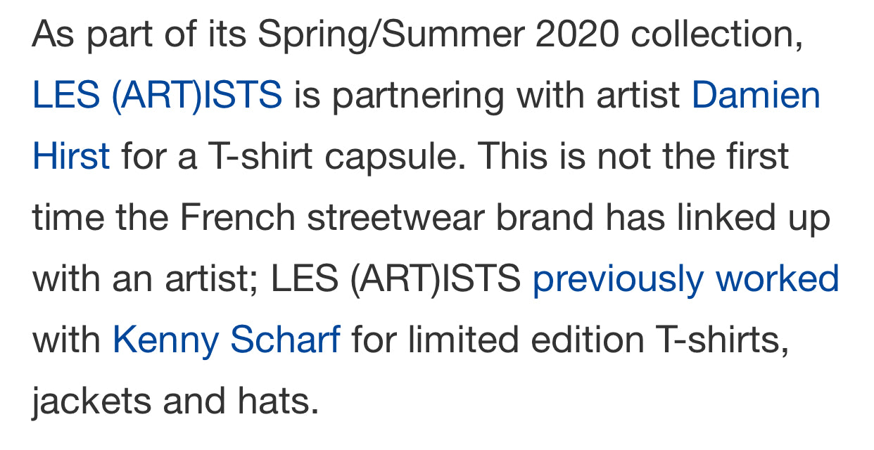 LES (ART)ISTS X Damien Hirst - HYPEBEAST