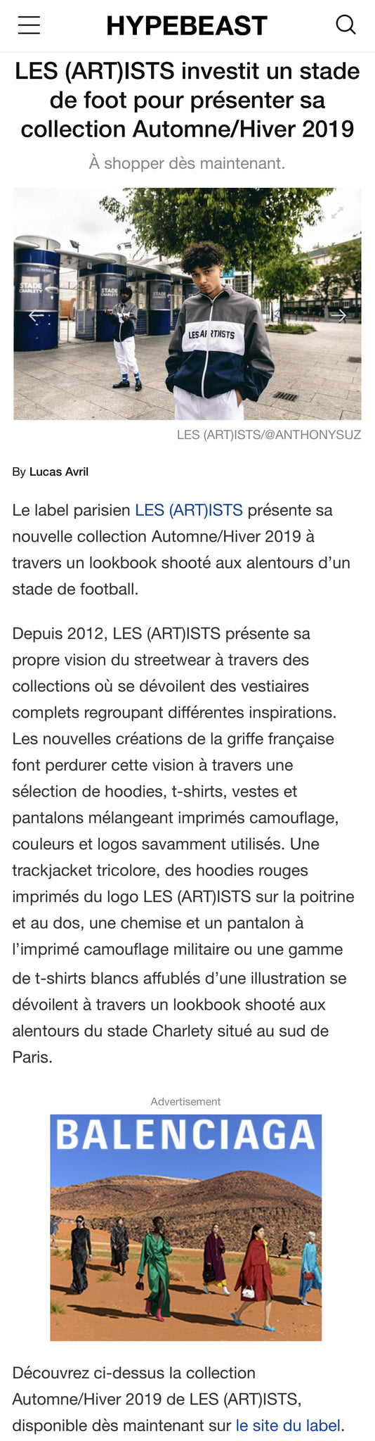 LES (ART)ISTS HYPEBEAST FRANCE