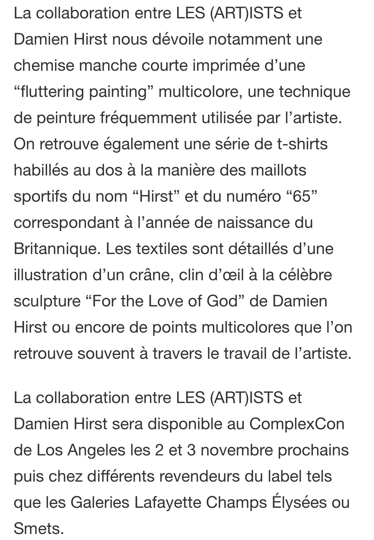 LES (ART)ISTS X DAMIEN HIRST - HYPEBEAST FRANCE