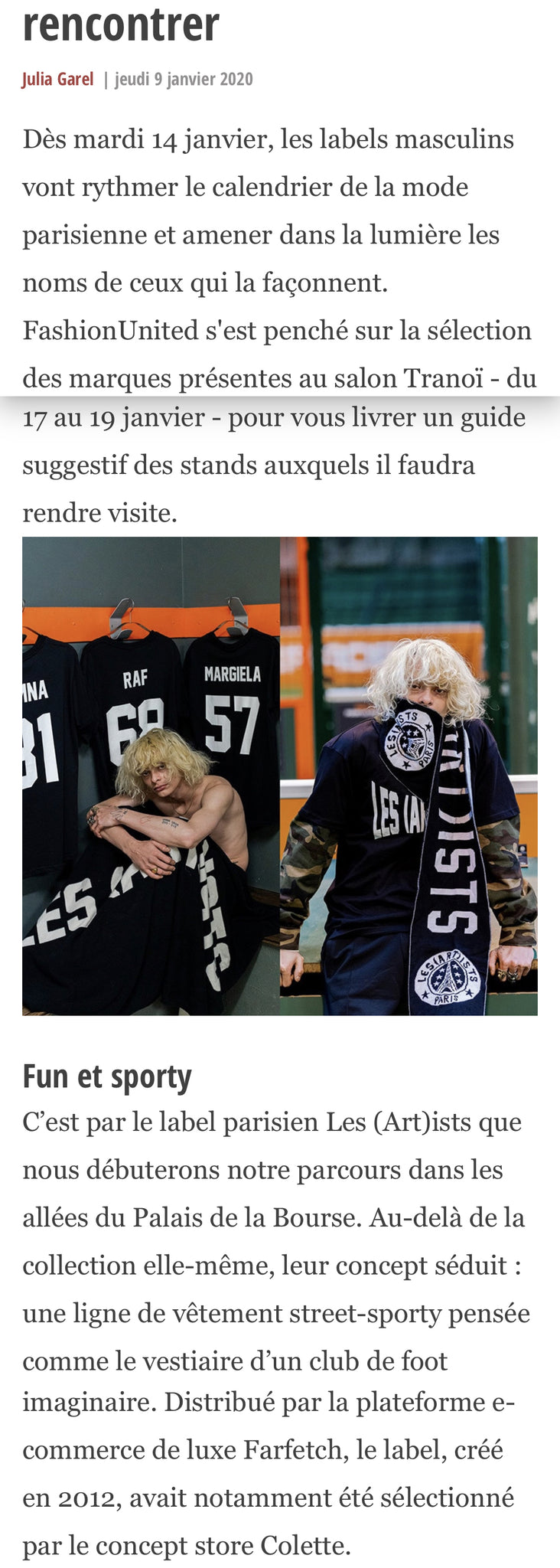 LES (ART)ISTS X FASHION UNITED