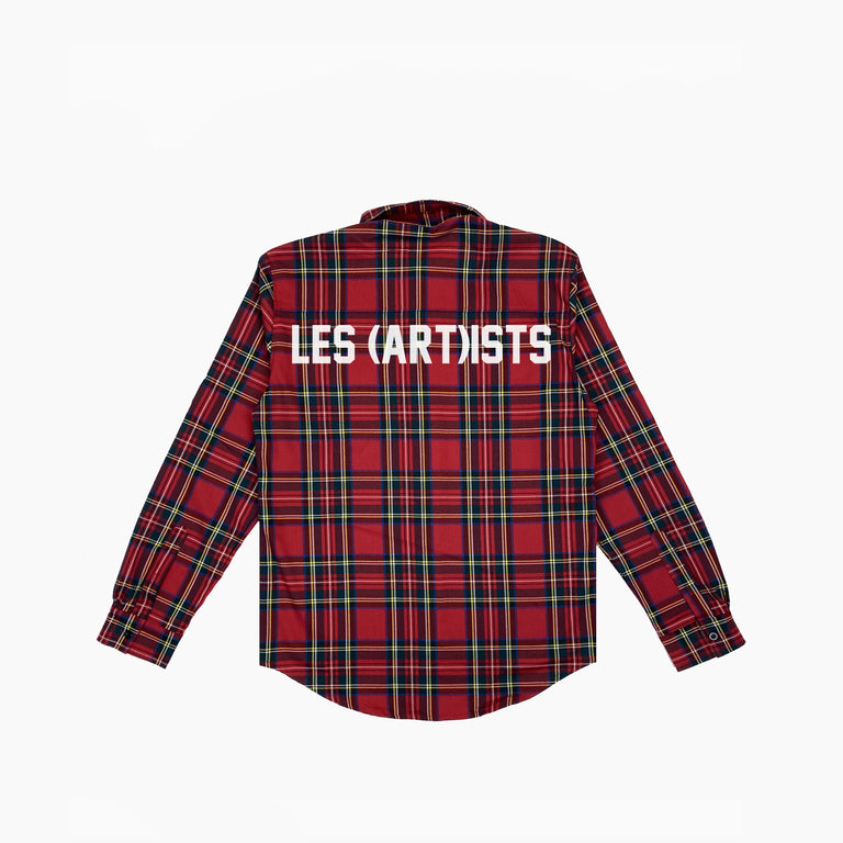 SHIRT FLANNEL BIG LOGO - Red