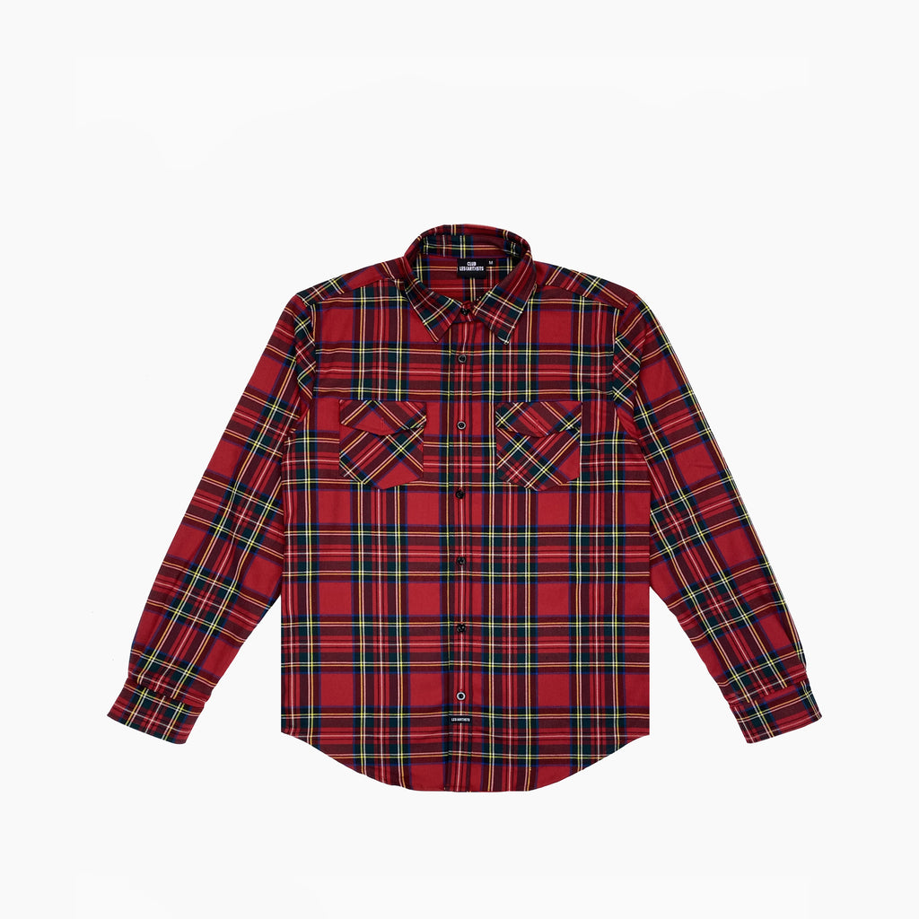 SHIRT FLANNEL BASIC - Red