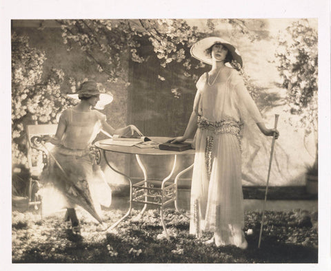 adolph de meyer two models at a table vogue vintage fashion public domain
